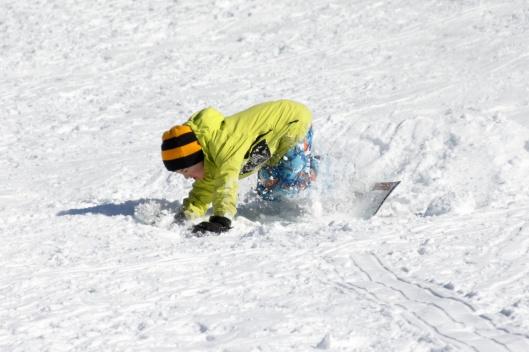 也有不少人玩起單板滑雪