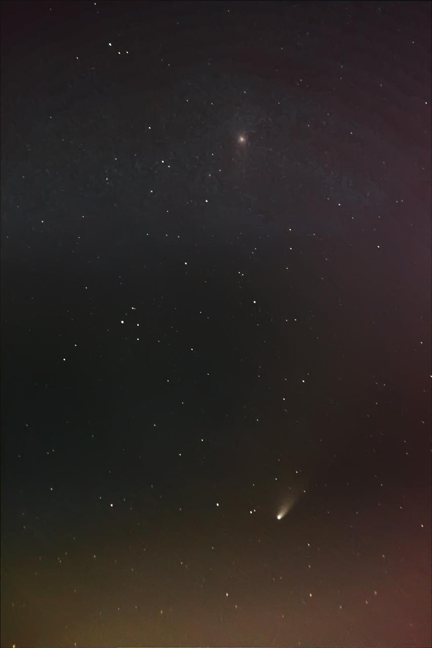 泛星彗星接近仙女座星系