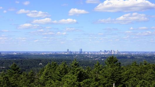 藍山氣象台遠眺波士頓