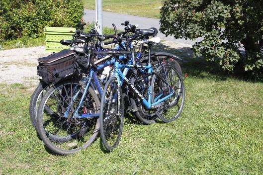 一堆腳踏車
