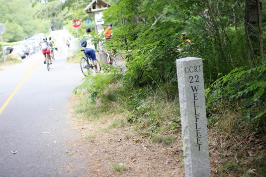 單車道里程碑