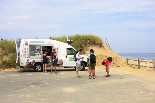 美國風景區很常見的冰淇淋車