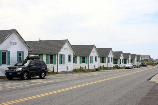 海邊一整排的度假小屋
