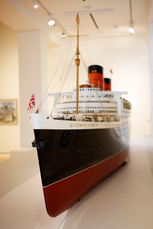 博物館內的輪船模型