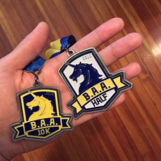 B.A.A. 10K以及半馬完賽獎牌