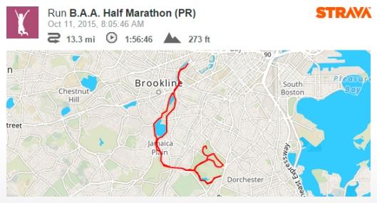 baa half marathon strava